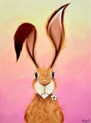 Daisy Hare at Sunset by Jennifer Hogwood -  sized 18x24 inches. Available from Whitewall Galleries